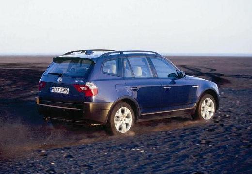 BMW X3 kombi niebieski jasny tylny prawy