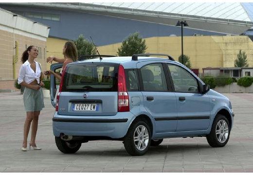 FIAT Panda II hatchback niebieski jasny tylny prawy