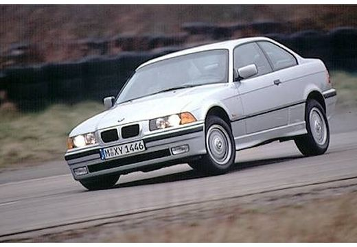 BMW Seria 3 E36 coupe silver grey przedni lewy