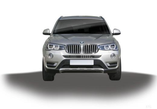 BMW X3 X 3 F25 II kombi silver grey przedni