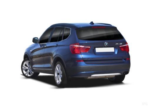 BMW X3 X 3 F25 I kombi niebieski jasny tylny lewy