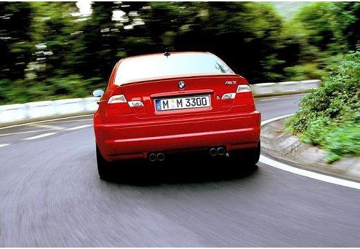 BMW Seria 3 coupe czerwony jasny tylny