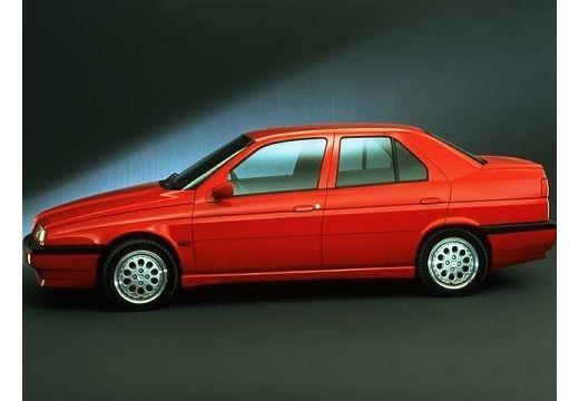ALFA ROMEO 155 sedan czerwony jasny boczny lewy
