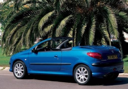 PEUGEOT 206 CC II kabriolet niebieski jasny tylny lewy