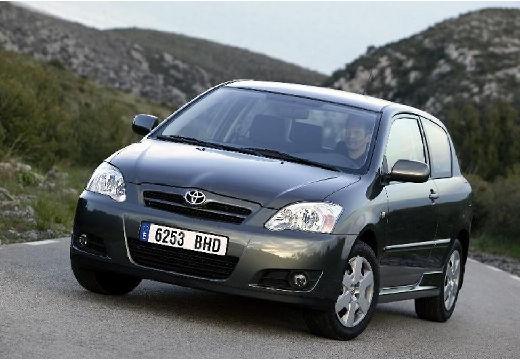 Toyota Corolla VII hatchback czarny przedni lewy