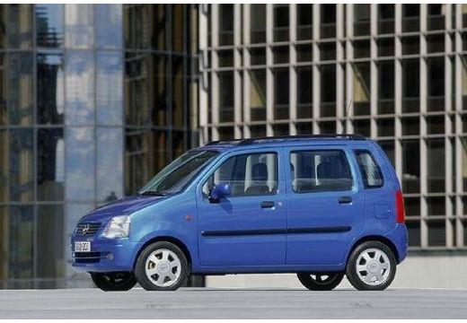 OPEL Agila I hatchback niebieski jasny przedni lewy