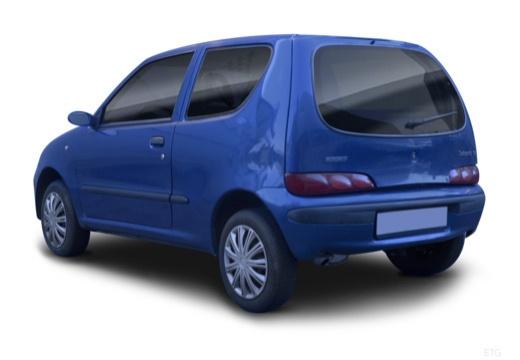 FIAT 600 hatchback czarny tylny lewy