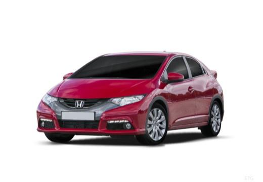 HONDA Civic VIII hatchback czerwony jasny przedni lewy