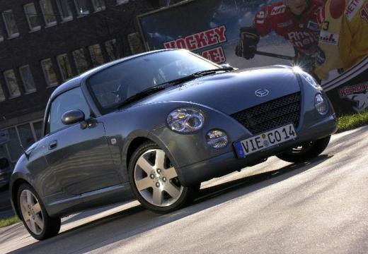 DAIHATSU Copen roadster silver grey przedni prawy