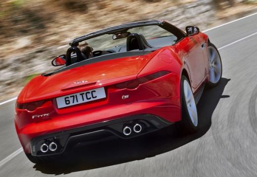 JAGUAR F-Type kabriolet czerwony jasny tylny prawy