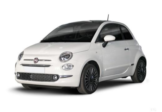 FIAT 500 hatchback biały przedni lewy