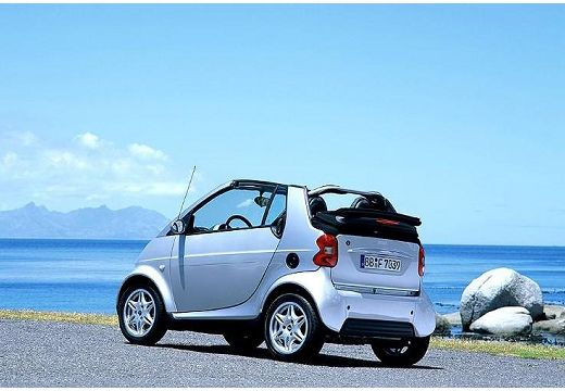SMART fortwo cabrio I kabriolet silver grey tylny lewy