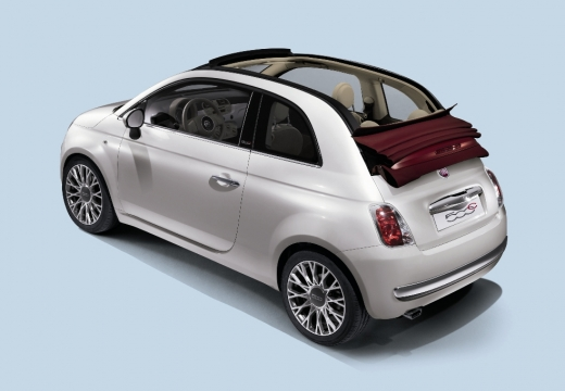 FIAT 500 kabriolet biały tylny lewy