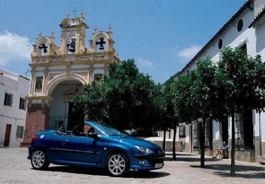 PEUGEOT 206 CC II kabriolet niebieski jasny boczny prawy