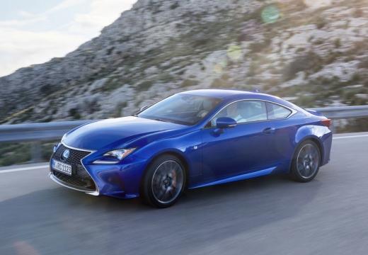 LEXUS RC coupe niebieski jasny przedni lewy
