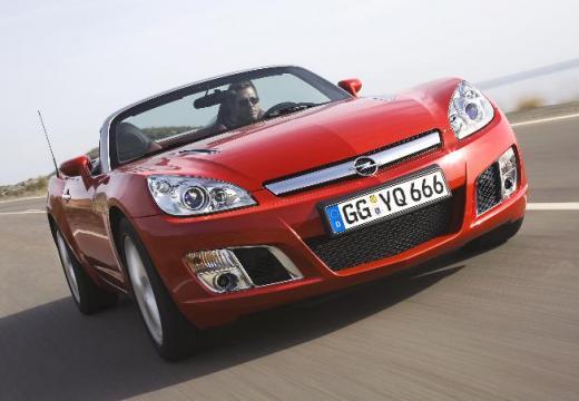 OPEL GT roadster czerwony jasny przedni prawy
