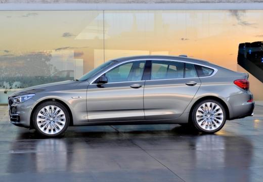 BMW Seria 5 Gran Turismo F07 II hatchback silver grey boczny lewy