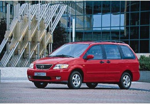 MAZDA MPV II van czerwony jasny przedni lewy