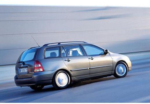 Toyota Corolla kombi szary ciemny tylny prawy