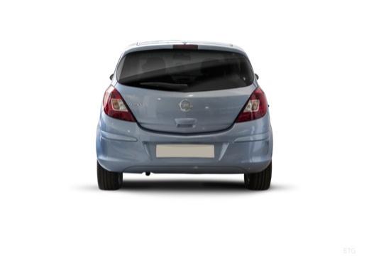 OPEL Corsa D II hatchback niebieski jasny tylny