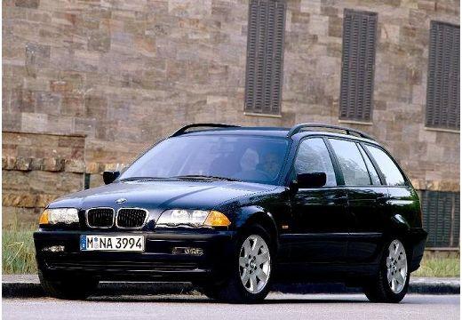 BMW Seria 3 kombi czarny przedni lewy