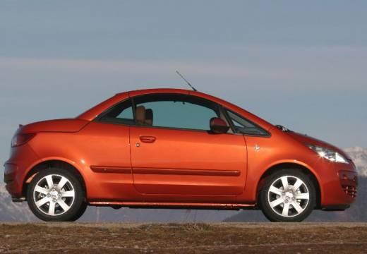 MITSUBISHI Colt kabriolet pomarańczowy boczny prawy
