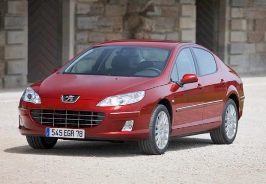 PEUGEOT 407 sedan czerwony jasny przedni lewy