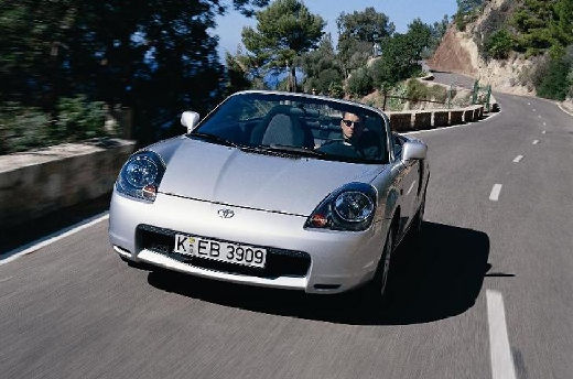 Toyota MR2 roadster silver grey przedni