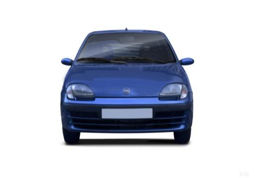 FIAT 600 hatchback czarny przedni