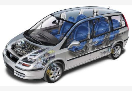FIAT Ulysse van silver grey prześwietlenie