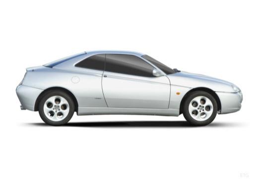 ALFA ROMEO GTV coupe silver grey boczny prawy