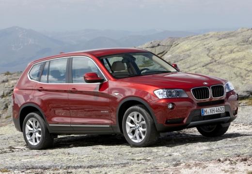 BMW X3 X 3 F25 I kombi czerwony jasny przedni prawy