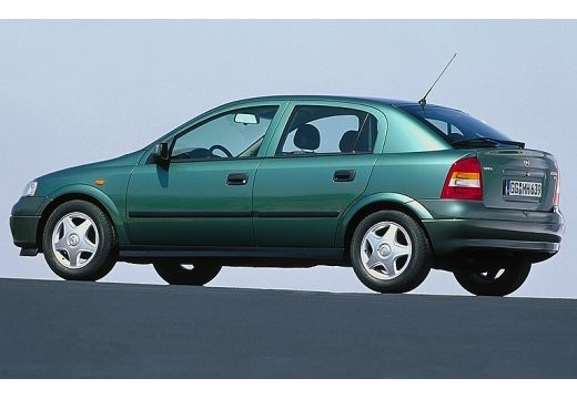 OPEL Astra II hatchback zielony przedni lewy