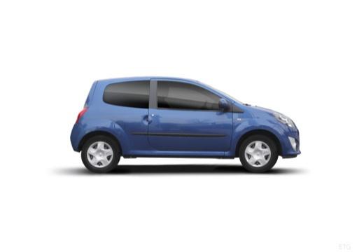 RENAULT Twingo hatchback niebieski jasny boczny prawy