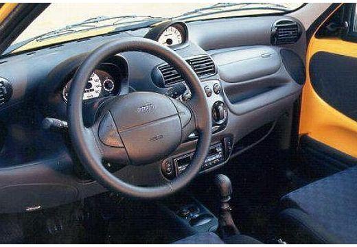 FIAT 600 hatchback żółty tablica rozdzielcza