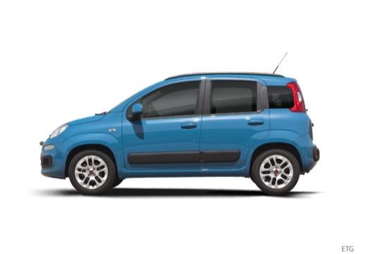 FIAT Panda III hatchback niebieski jasny boczny lewy