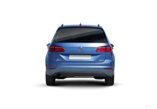 VOLKSWAGEN Golf VII Sportsvan I hatchback niebieski jasny tylny