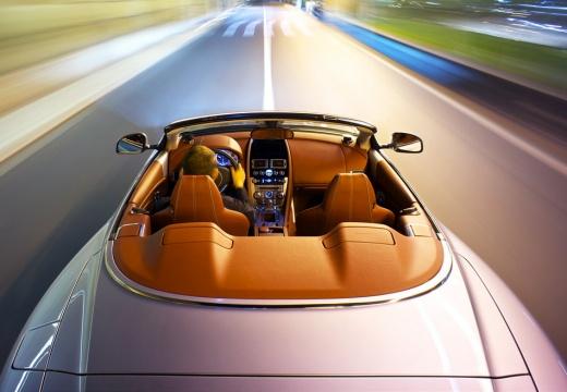 ASTON MARTIN DB9 kabriolet silver grey górny tylny
