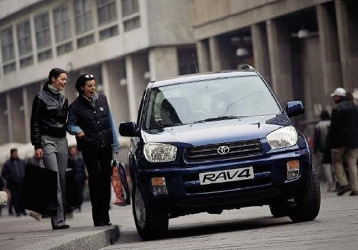 Toyota RAV4 II kombi niebieski jasny przedni