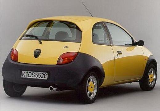 FORD Ka hatchback żółty tylny prawy