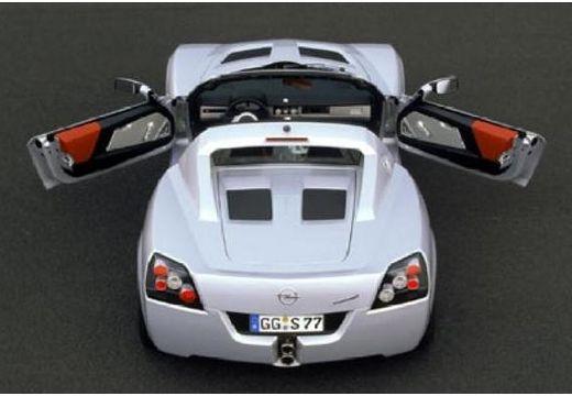 OPEL Speedster roadster silver grey górny tylny