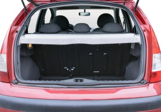 CITROEN C3 II hatchback czerwony jasny przestrzeń załadunkowa
