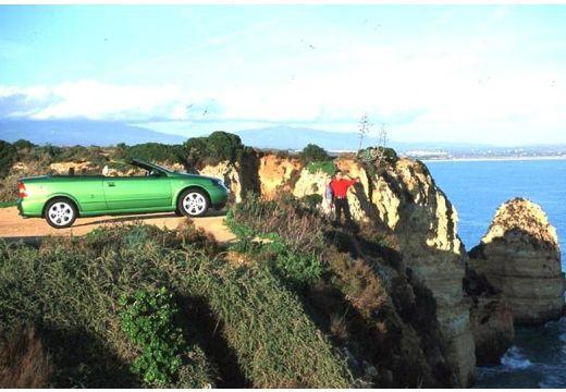 OPEL Astra kabriolet zielony boczny prawy