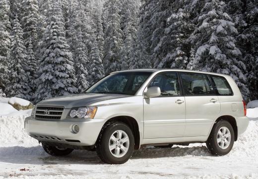 Toyota Highlander kombi silver grey przedni lewy