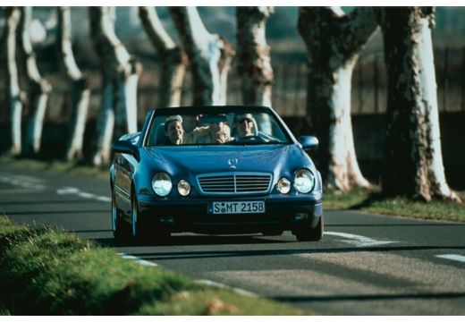 MERCEDES-BENZ Klasa CLK kabriolet niebieski jasny przedni prawy