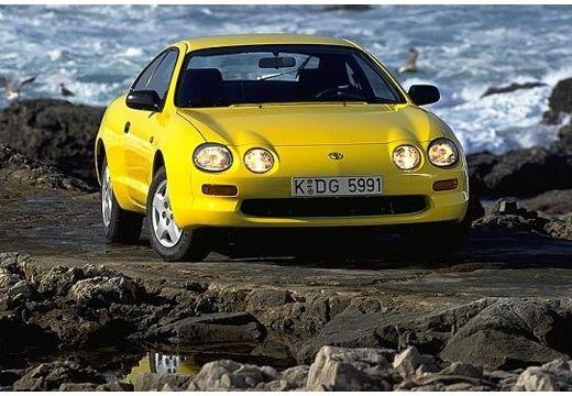 Toyota Celica coupe żółty przedni prawy