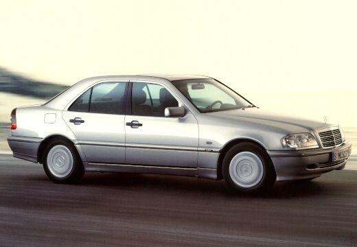 MERCEDES-BENZ Klasa C HO 202 II sedan silver grey przedni prawy
