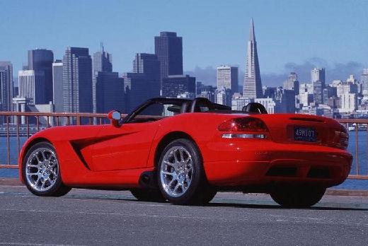 DODGE Viper Roadster II coupe czerwony jasny tylny lewy