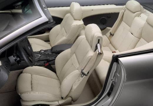 BMW Seria 6 kabriolet silver grey wnętrze