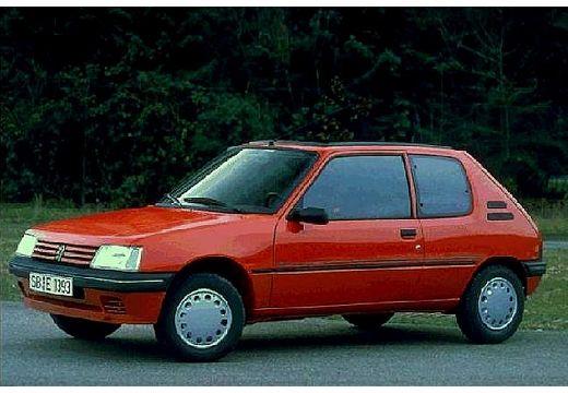 PEUGEOT 205 I hatchback czerwony jasny przedni lewy